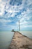 Пристань в Вест-Инди, Sarteneja, Белиз Стоковое фото RF
