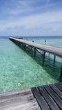 Пристань в Мальдивах Стоковые Фото