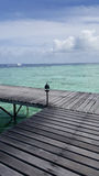 Пристань в Мальдивах Стоковое Изображение RF