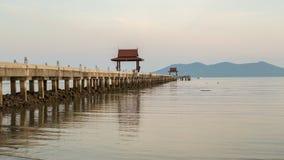 Пристань в море Стоковое фото RF