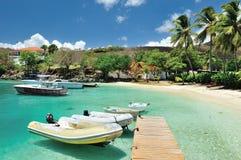 Пристань в острове st joan Стоковые Изображения