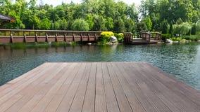 Пристань в парке Стоковое Изображение RF