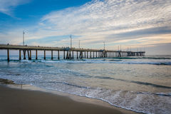 Пристань в пляже Венеции, Лос-Анджелесе, Калифорнии Стоковые Фотографии RF