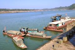 Пристань в старом городке Zhouzi Стоковые Изображения