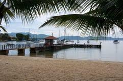Пристань в dos Reis Angra, Бразилии Стоковое Фото