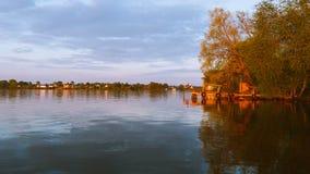 Пристань в Kalyasin Стоковые Изображения