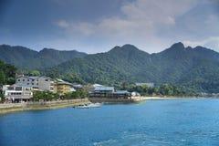 Пристань в Miyajima, Японии на 2016 Стоковое фото RF