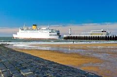 Пристань в Oostende Стоковое Изображение RF