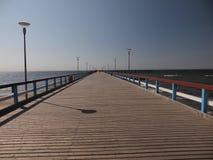 Пристань в Palanga (Литва) Стоковая Фотография RF