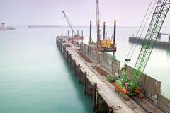 пристань гавани конструкции вниз Стоковое Изображение RF