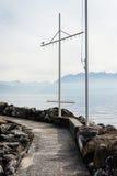 Пристань гавани Lutry стоковые изображения rf