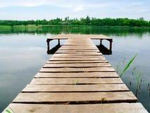 пристань деревянная Стоковые Фотографии RF