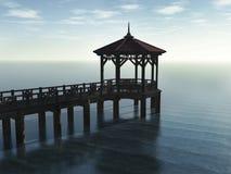 пристань деревянная Стоковая Фотография