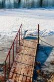 Пристань для окунать во льду стоковое изображение