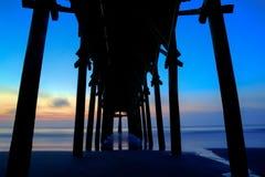 Пристань захода солнца Стоковое Изображение