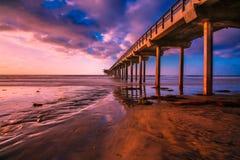 Пристань #4 захода солнца Стоковое Изображение
