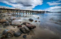 Пристань и океан Стоковое Изображение RF