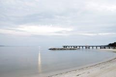 Пристань и пляж портового района Hampton Вирджинии Стоковая Фотография RF