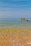 Пристань и ясная морская вода стоковое фото rf