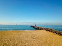 Пристань Калифорния пляжа уплотнения стоковое изображение