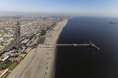 Пристань Лонг-Бич Калифорния Belmont вида с воздуха стоковые изображения