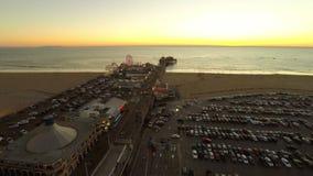 Пристань Лос-Анджелеса воздушная Санта-Моника акции видеоматериалы