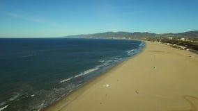 Пристань Лос-Анджелеса воздушная Санта-Моника сток-видео