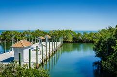 Пристань - национальный парк Biscayne - Флорида Стоковое Изображение RF