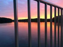 Пристань на восходе солнца Стоковые Изображения