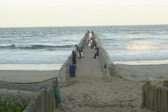 Пристань на заливе пляжа множества, Дурбана, Южной Африки Стоковое Изображение RF