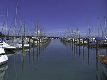 Пристань на озере Констанции Стоковое Изображение RF