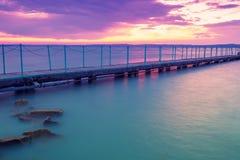 Пристань на озере Balaton стоковое фото