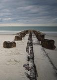 Пристань на острове Pawleys Стоковое Изображение