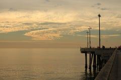 Пристань на пляже Венеции Стоковые Изображения RF