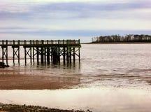 Пристань на пляже грецкого ореха Стоковая Фотография
