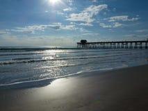 Пристань на пляже какао, Флориде Стоковые Изображения