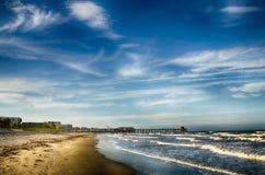 Пристань на пляже какао, FL стоковые изображения rf