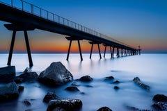 Пристань на сумерк Стоковая Фотография RF