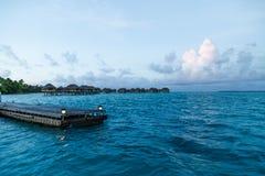 Пристань на экзотическом острове Стоковое фото RF