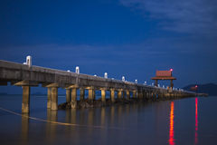 Пристань ночи Стоковые Фото