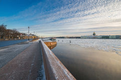 Пристань обваловки университета Стоковые Фото