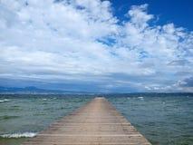 пристань озера garda Стоковое Изображение RF