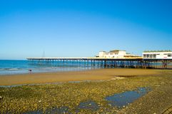 пристань пляжа утесистая Стоковая Фотография RF
