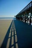 пристань пляжа Стоковое фото RF