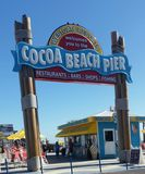 Пристань пляжа какао Стоковая Фотография