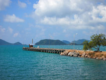 Пристань пляжа на Таиланде Стоковое Изображение