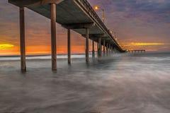 пристань пляжа океана Стоковое фото RF