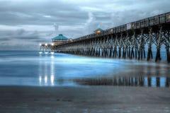 Пристань пляжа сумасбродства Стоковое Изображение