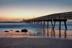 Пристань пляжа Deerfield Стоковое фото RF