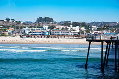 Пристань пляжа Pismo Стоковое фото RF